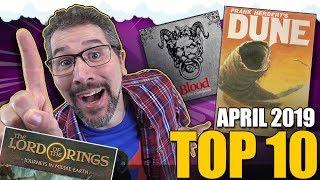 Top 10 hottest board games: April 2019