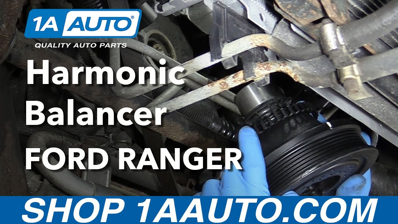 How to Remove Harmonic Balancer Crank Pulley THE SAFE WAY Reinstall 200111 Ford Ranger  YouTube