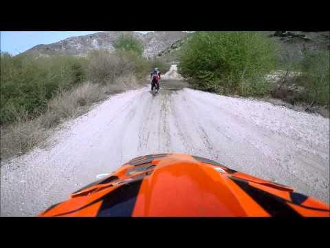 Crashing into Deep Creek With my Dirt Bike!!!