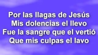 Por las llagas de Jesus - Letra