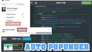 Script HTML - Auto Pop Under Para Blog tumblr y wordpress