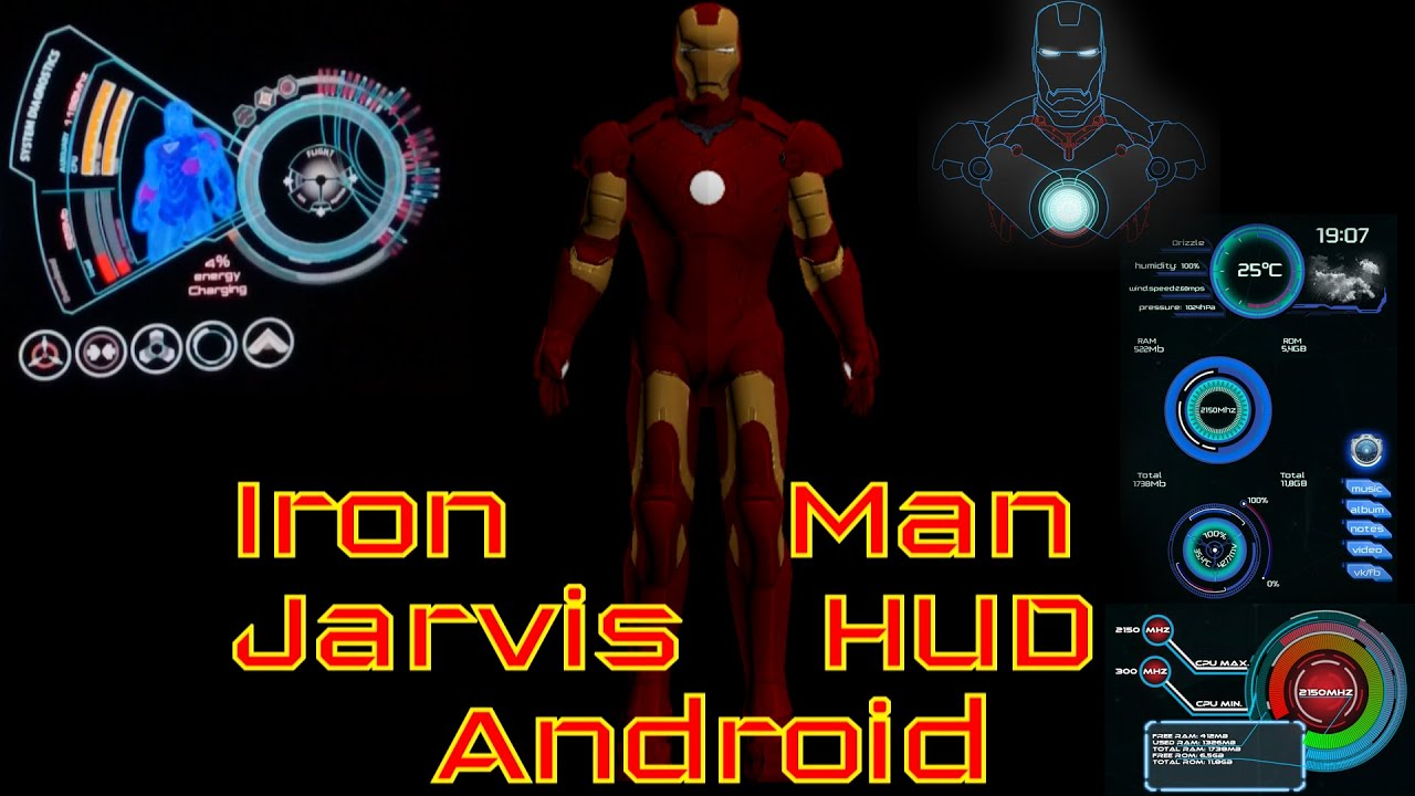 Iron Man Jarvis Ui Hud Transparent For Android Phones And Tablets