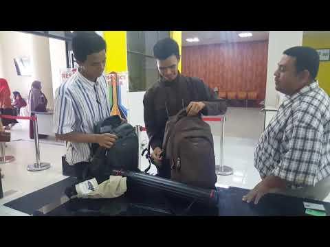 Pelayanan Check-in pemeriksaan tas di Perpustakaan Unsyiah