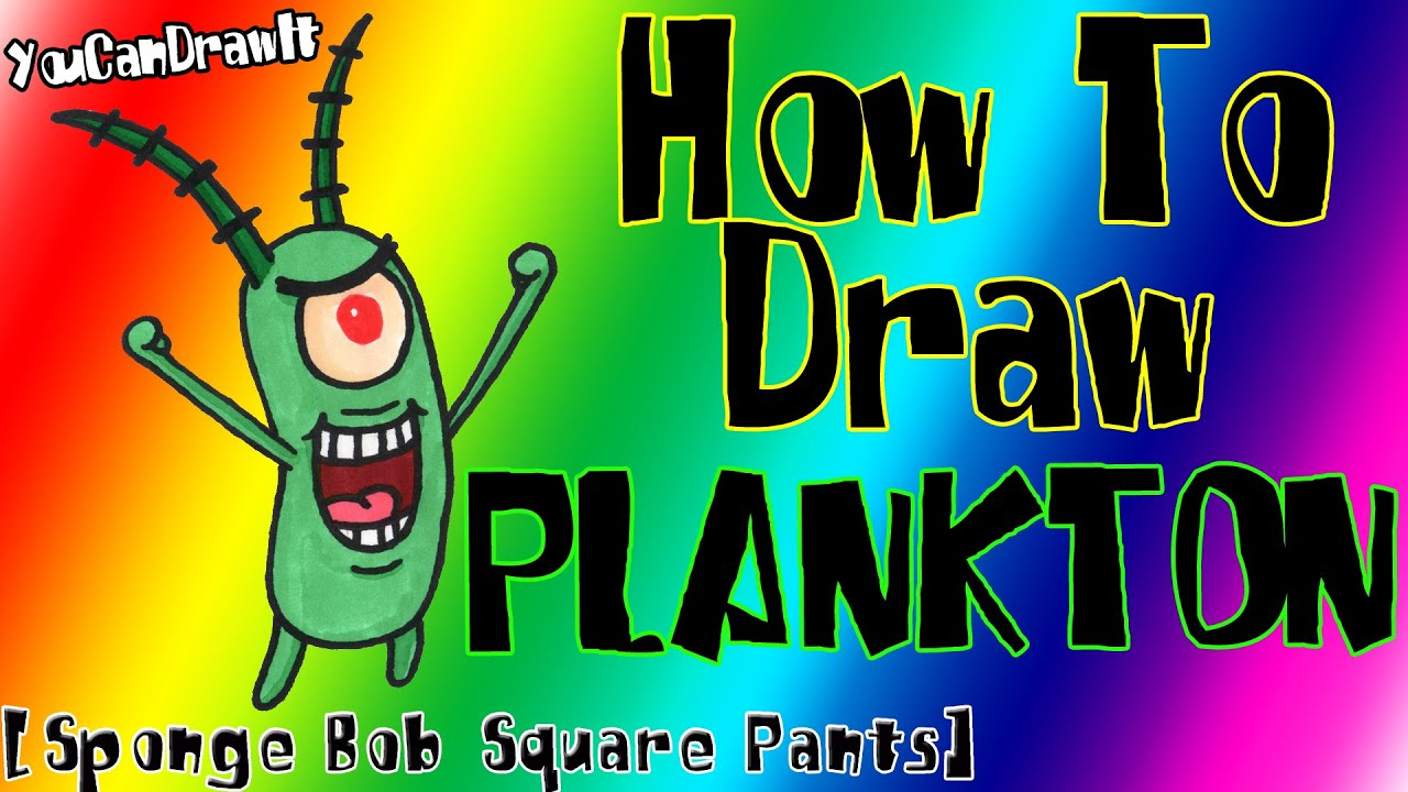 Download How To Draw Plankton from Sponge Bob Square Pants ✎ YouCanDrawIt ツ 1080p HD