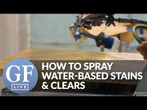 How to Spray Water-Based Stains and Water-Based Topcoats | Live From General Finishes