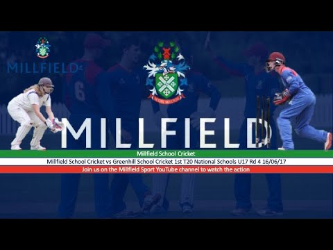 T20 National Schools U17 Rd 4 Millfield V Greenhill School