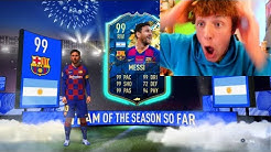 99 MESSI IN A PACK!! TOTS PACK OPENING LIVE - FIFA 20