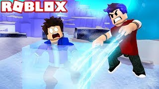 I FROZE MY BROTHER JEAN L AT ROBLOX!!!