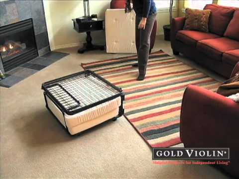 Fold Out Ottoman Bed Goldviolin Com Youtube