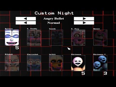 Five Nights at Freddy's: Sister Location Custom Night (Part 1)