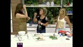 Claudia Raia apresenta no Mais Você a Nutricionista Alessandra e o Personal Trainer Tonhão