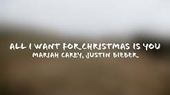 Mariah Carey, Justin Bieber - All I Want For Christmas Is You (Lyrics + Terjemahan Indonesia)