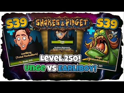 ★ 17er Kombo! | Stufe 250! | Unge VS Earliboy! ★ s39 ★ Shakes and Fidget [Deutsch] ★