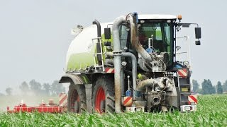 Claas Xerion 3800 Saddle Trac + SGT + Kverneland Kultistrip | Slurry Injection