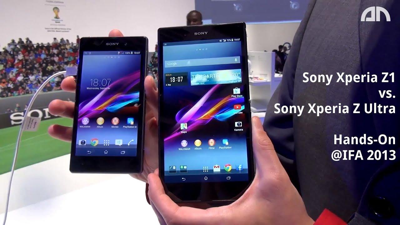Xperia Z Ultra Vs Xperia Z1 Sony Xperia Z1 vs. Son...