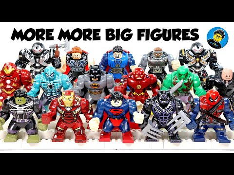 Lego Marvel & DC BigFigs Superman Hulkbuster Batman Avengers & Justice League Unofficial Knockoffs