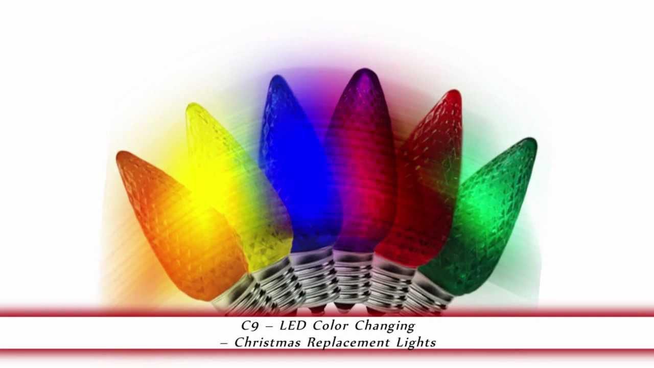 Color Changing Led C9 Christmas Light Bulbs