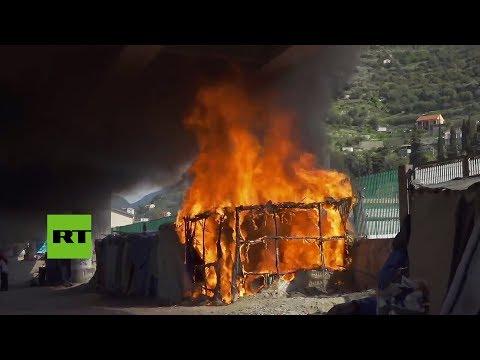 Italia: Desmantelan el campamento de refugiados de Ventimiglia