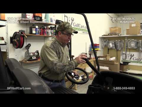 Club Car Precedent Custom Steering Wheel | How To Install On Golf Cart
