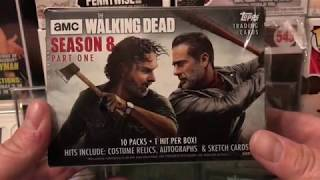 TOPPS AMC The Walking dead season 8 blaster Walmart first look!