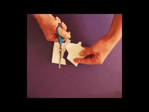 DIY Dancing Paper Ghosts Garland