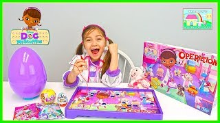 Doc McStuffins Operation Game for Kids w/ LOL Surprise Doll & Kinder Egg