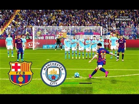 PES 2020 | Barcelona vs Manchester City | MESSI & DE BRUYNE Free Kick Goals