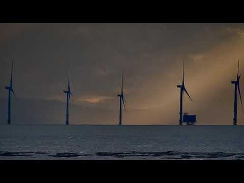 Mersey estuary in the evening