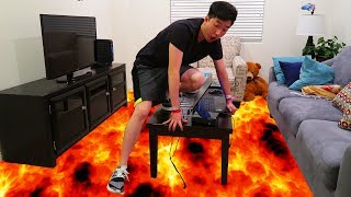FLOOR IS LAVA CHALLENGE IN THE NEW HOUSE!!!