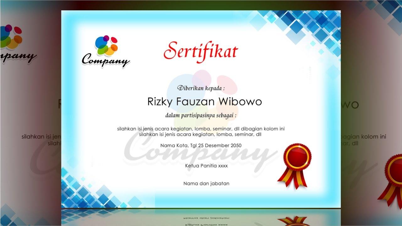 certificate design blue - photoshop tutorial - YouTube