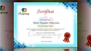 certificate design blue - photoshop tutorial