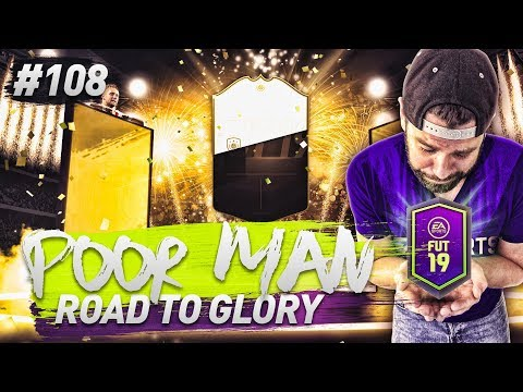 HUGE PACK OPENING FOR FUTURE STARS! WALKOUTS! PRIME ICON! - POOR MAN RTG #108 - FIFA 19