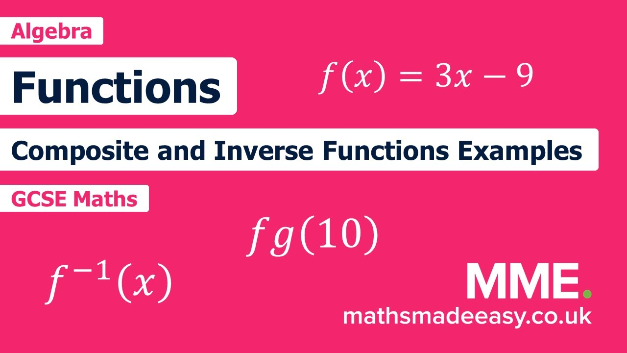 Functions Questions  Worksheets and Revision  MME In Composite Function Worksheet Answer Key
