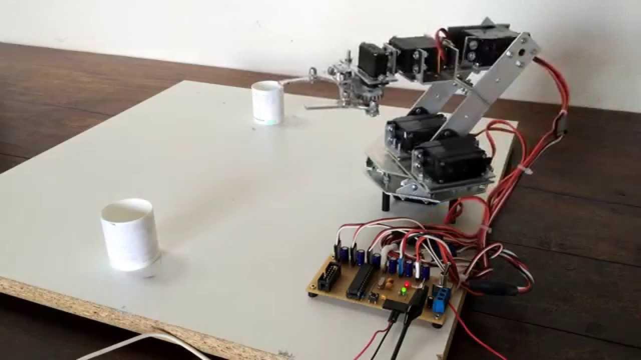 Arduino controlled robot arm doovi