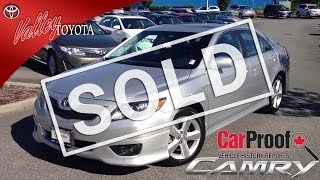 (SOLD) 2011 Toyota Camry SE Preview, For Sale Here At Valley Toyota Scion In Chilliwack BC # 13774A