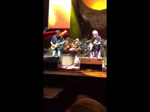 Dead & Company Bob Weir and John Mayer trading lick on Jack Straw. Madison Square Garden 10/31/15
