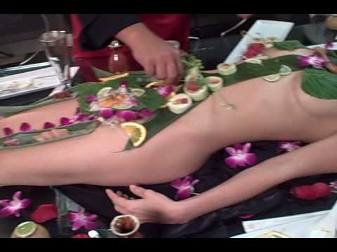 Naked Body Sushi with Playboy model Christine Nguyen - 女体盛り from YouTube · Duration:  7 minutes 14 seconds