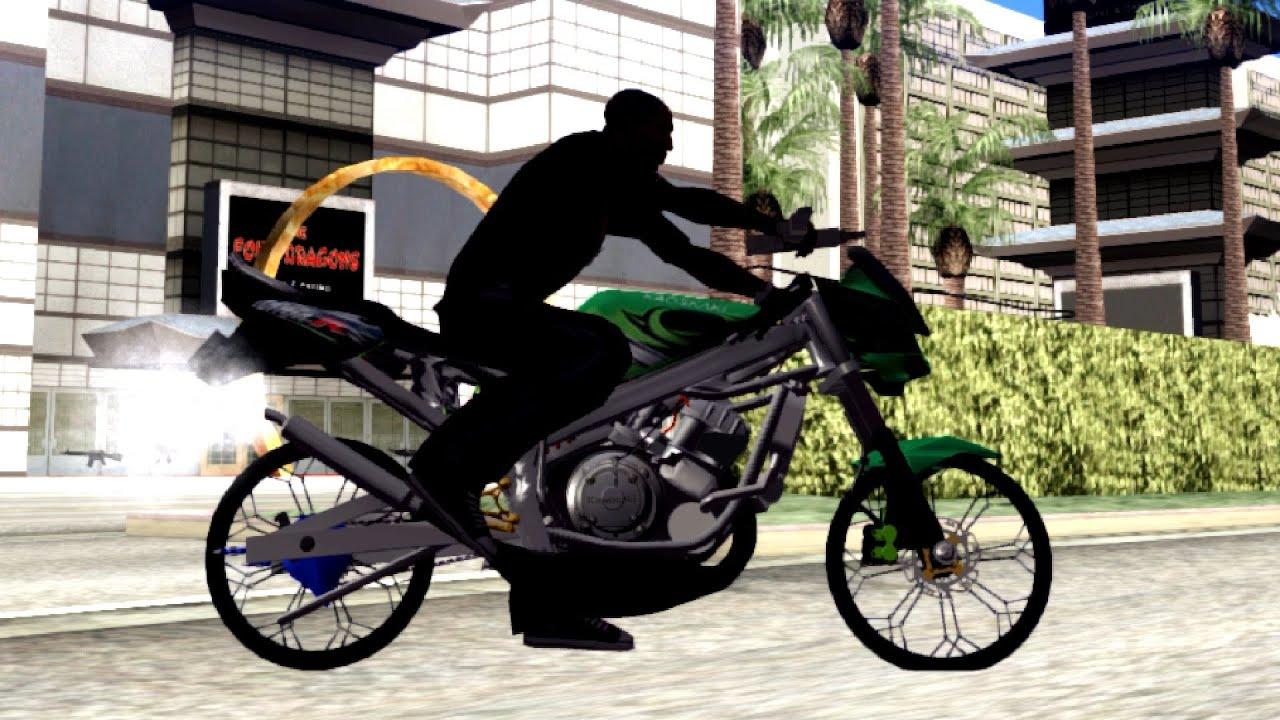 459 kawasaki ninja r drag | new ! car ! gta san andreas ! [60 fps