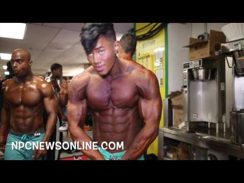 2017 NPC JR.Nationals Mens Physique Prejudging Backstage