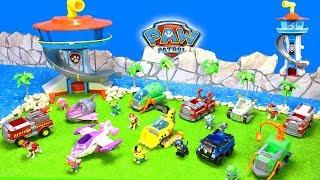 Paw Patrol Spielzeug Unboxing für Kinder   Autos, Bagger, Flugzeug, Hubschrauber, Boote & Figuren