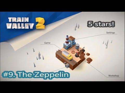 Train Valley 2. Level 9. The Zeppelin.  