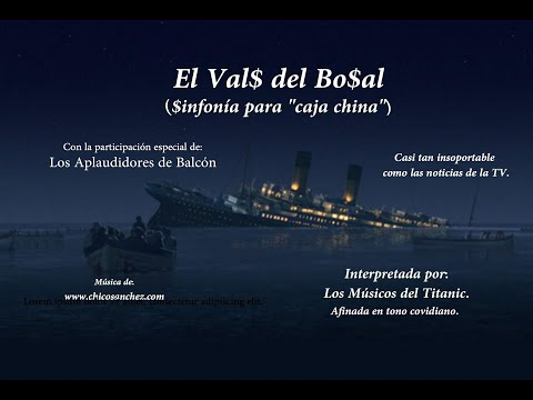 """El Vals del Bozal. Sinfonía covidiana para """"caja china""""."""
