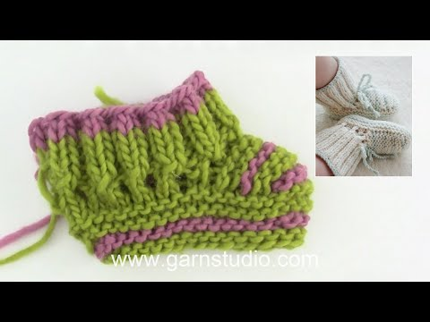 to knit baby booties in Baby DROPS 25
