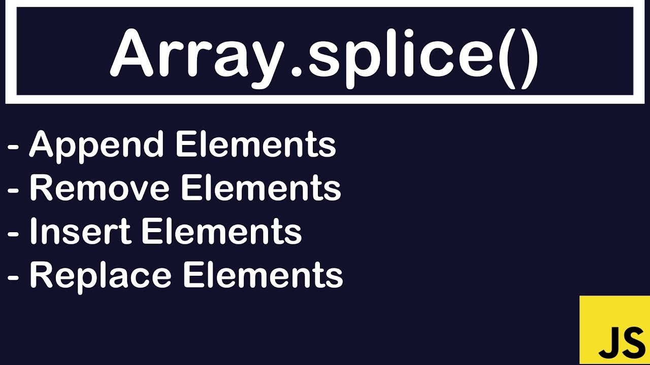 JavaScript Tutorial |Array.splice() - YouTube