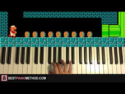 HOW TO PLAY - Super Mario Bros - Underground Theme (Piano Tutorial Lesson)