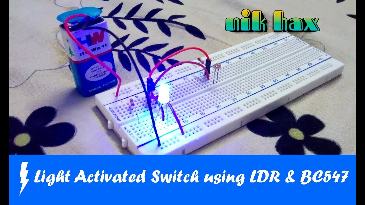 Light Activated Switch using LDR and BC547 - YouTube