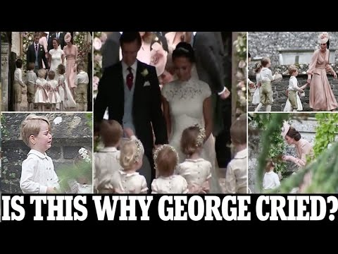 why Prince George cried, kicked up a fuss at Pippa's wedding after Kate appeared to tell him off