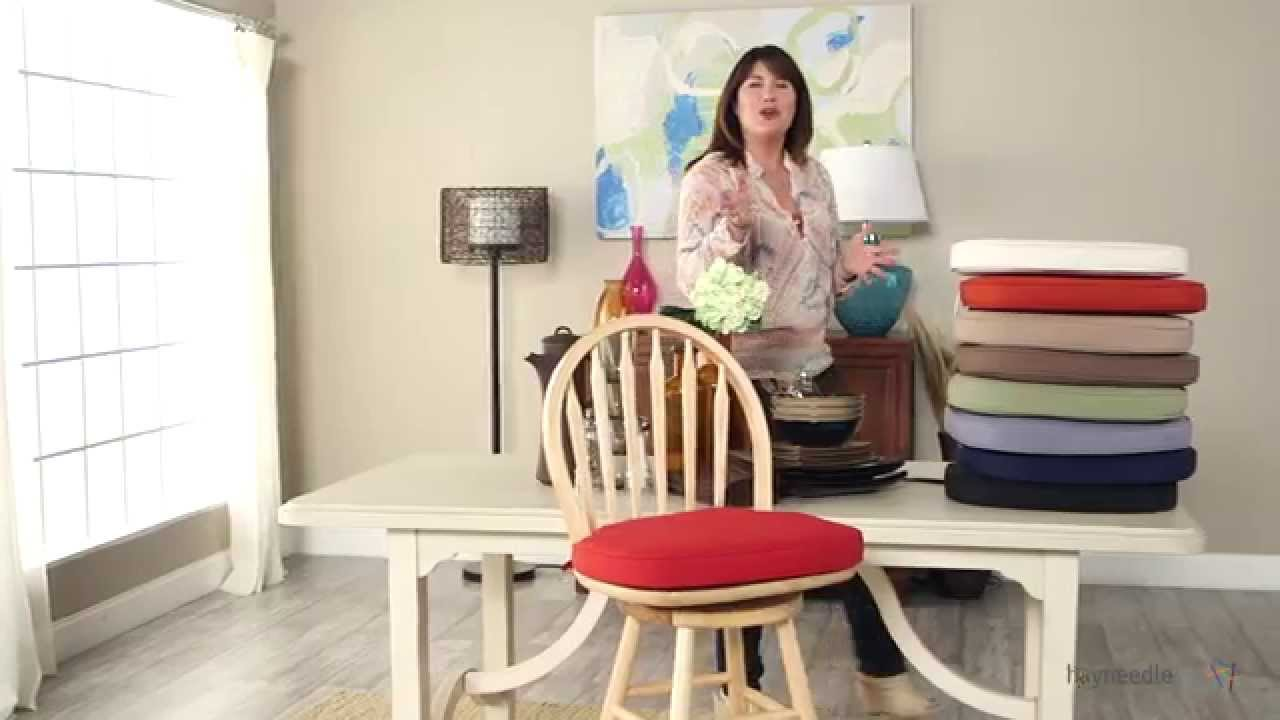 Deauville 17 X 17.25 Windsor Bar Stool Seat Cushion   Product Review Video