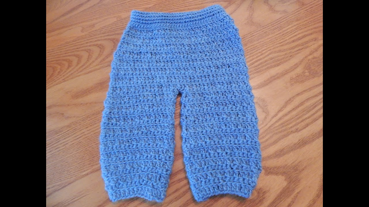 Pantalon para Bebe Crochet - YouTube