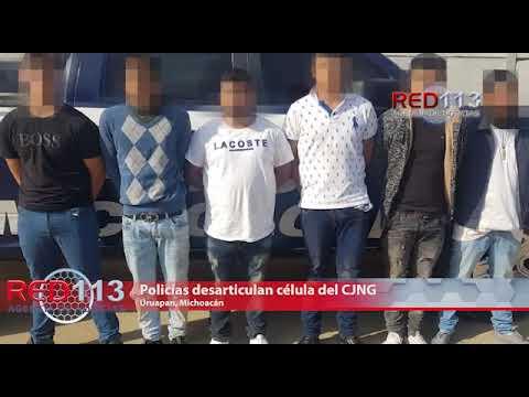 VIDEO Policías desarticulan célula del CJNG que operaba en Uruapan